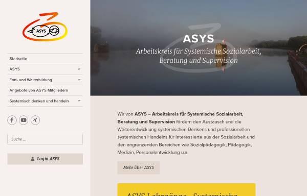 Vorschau von www.asys.ac.at, Arbeitskreis für Systemische Sozialarbeit, Beratung und Supervision