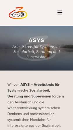 Vorschau der mobilen Webseite www.asys.ac.at, Arbeitskreis für Systemische Sozialarbeit, Beratung und Supervision