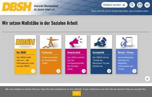 Vorschau von www.dbsh.de, Deutscher Berufsverband für Sozialarbeit, Sozialpädagogik und Heilpädagogik e.V. (DBSH)