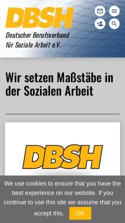 Vorschau der mobilen Webseite www.dbsh.de, Deutscher Berufsverband für Sozialarbeit, Sozialpädagogik und Heilpädagogik e.V. (DBSH)