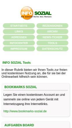 Vorschau der mobilen Webseite www.netz-sozial.de, Netz Sozial - das soziale Netzwerk