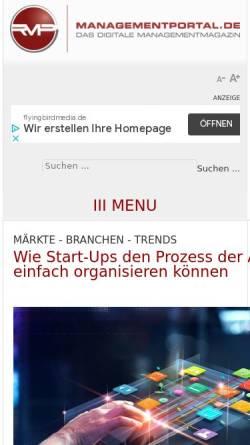 Vorschau der mobilen Webseite www.themanagement.de, Themanagement.de by Recklies Management Project GmbH