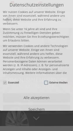 Vorschau der mobilen Webseite www.gp-limousines.de, G & P GmbH