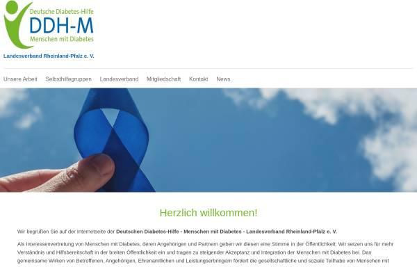 Vorschau von www.diabetes-rlp.de, DDH-M - Landesverband Rheinland-Pfalz e.V.