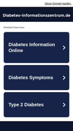 Vorschau der mobilen Webseite www.diabetes-informationszentrum.de, Diabetes-Informationszentrum