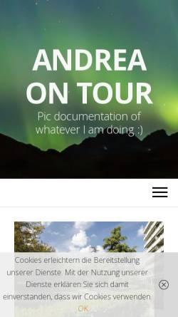 Vorschau der mobilen Webseite www.andreaontour.de, Andrea on Tour [Andrea Klug]