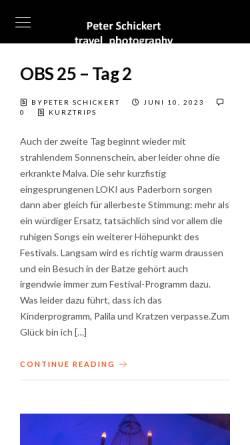 Vorschau der mobilen Webseite www.reise-photografie.de, Bilder aus aller Welt [Peter Schickert]