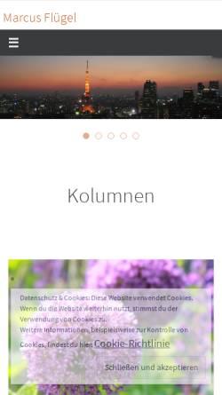 Vorschau der mobilen Webseite www.marcus-fluegel.de, Bilder von unterwegs [Marcus Flügel]