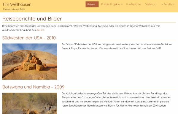 Vorschau von www.tim-wellhausen.de, Reiseberichte und Bilder [Tim Wellhausen]