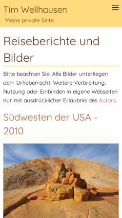 Vorschau der mobilen Webseite www.tim-wellhausen.de, Reiseberichte und Bilder [Tim Wellhausen]
