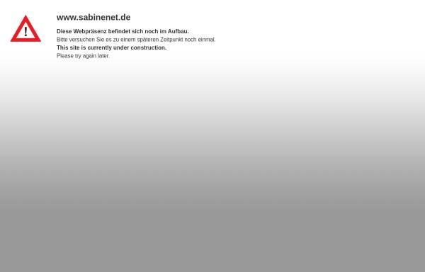 Vorschau von www.sabinenet.de, Sabinenet.de