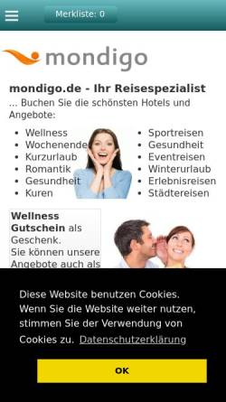 Vorschau der mobilen Webseite www.mondigo.de, Mondigo