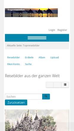 Vorschau der mobilen Webseite www.topreisebilder.com, Top Reisebilder [Willi Schnitzler]