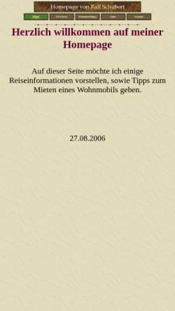 Vorschau der mobilen Webseite www.schubertshomeworld.de, USA Reise [Ralf Schubert]