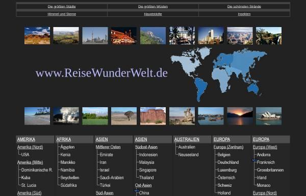 Vorschau von www.reisewunderwelt.de, Die Wunderwelt des Reisens [Benedikt Ernst]