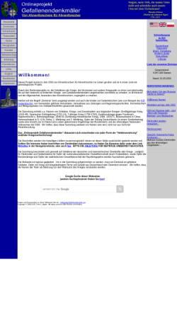 Vorschau der mobilen Webseite www.denkmalprojekt.org, Onlineprojekt Gefallenendenkmäler
