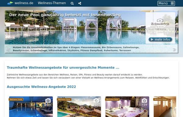 Vorschau von www.wellness.de, Wellness