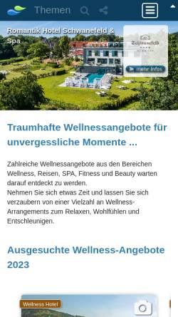 Vorschau der mobilen Webseite www.wellness.de, Wellness