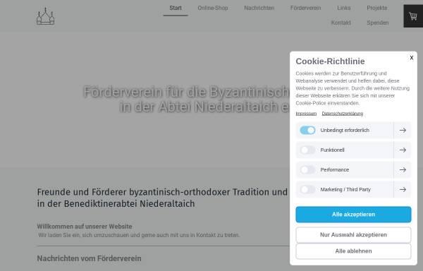 Vorschau von fvb-niederaltaich.de, Förderverein für die byzantinische Kirche in der Abtei Niederaltaich e.V.