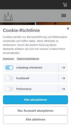 Vorschau der mobilen Webseite fvb-niederaltaich.de, Förderverein für die byzantinische Kirche in der Abtei Niederaltaich e.V.