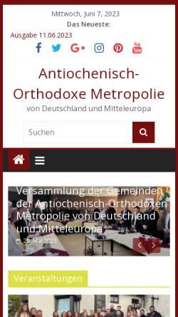 Vorschau der mobilen Webseite www.rum-orthodox.de, Griechisch-Orthodoxe Kirche von Antiochien in Deutschland