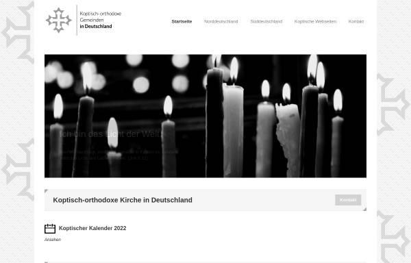 Vorschau von www.kopten.de, Koptisch-Orthodoxe Kirche in Deutschland