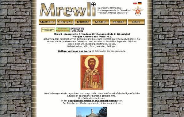 Vorschau von www.mrevli.de, Mrewli. Georgische orthodoxe Kirchengemeinde in Düsseldorf