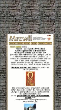 Vorschau der mobilen Webseite www.mrevli.de, Mrewli. Georgische orthodoxe Kirchengemeinde in Düsseldorf