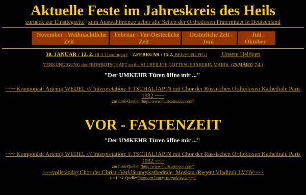 Vorschau von www.orthodoxfrat.de, Orthodoxe Fraternität in Deutschland e.V.