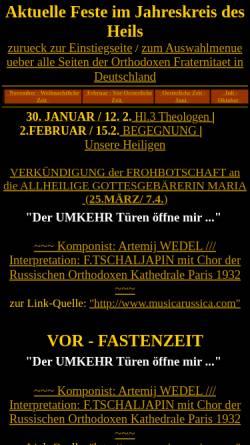 Vorschau der mobilen Webseite www.orthodoxfrat.de, Orthodoxe Fraternität in Deutschland e.V.