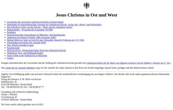 Vorschau von www.orthodoxe-kirche.de, Orthodoxie in Deutschland