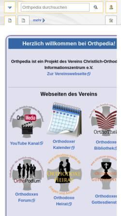 Vorschau der mobilen Webseite orthpedia.de, Orthpedia. Die orthodoxe Enzyklopädie