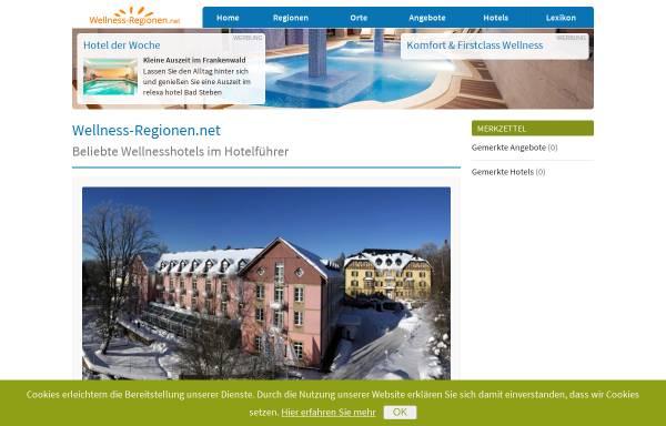 Vorschau von www.wellness-regionen.de, Wellness-Regionen.de
