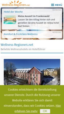 Vorschau der mobilen Webseite www.wellness-regionen.de, Wellness-Regionen.de