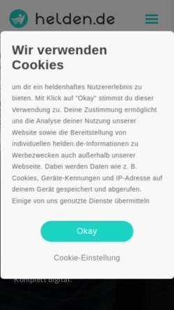 Vorschau der mobilen Webseite www.helden.de, Helden.de