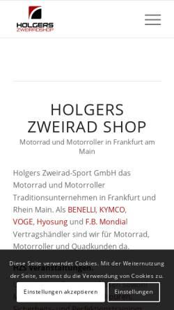 Vorschau der mobilen Webseite www.holgers-zweirad-shop.de, Holgers Zweirad-Shop GmbH