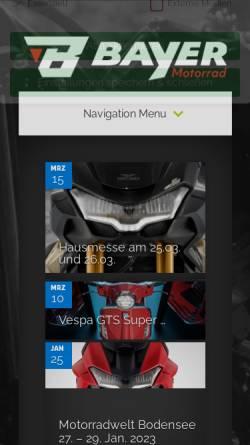 Vorschau der mobilen Webseite www.motorrad-bayer.de, Motorrad Bayer