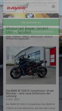 Vorschau der mobilen Webseite www.motorrad-bayer-gmbh.de, Motorrad Bayer GmbH