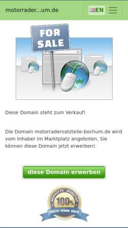 Vorschau der mobilen Webseite www.motorradersatzteile-bochum.de, Motorradersatzteile Bochum