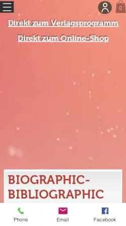 Vorschau der mobilen Webseite www.bautz.de, Johann Kaspar Lavater