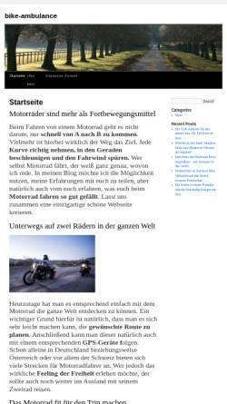 Vorschau der mobilen Webseite www.bike-ambulance.de, Motorradtechnik Janssen - Bike-Ambulance