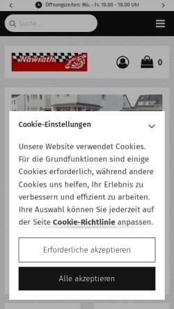Vorschau der mobilen Webseite www.nawrath-motorsport.de, Nawrath-Motorsport