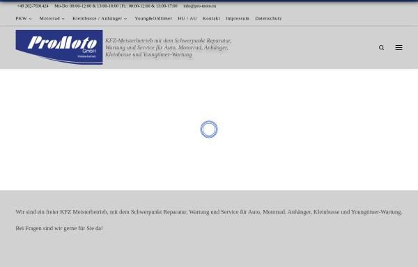 Vorschau von www.pro-moto.eu, Pro Moto - Dirk Schillings