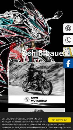 Vorschau der mobilen Webseite www.schisslbauer.de, Schißlbauer Zweirad GmbH