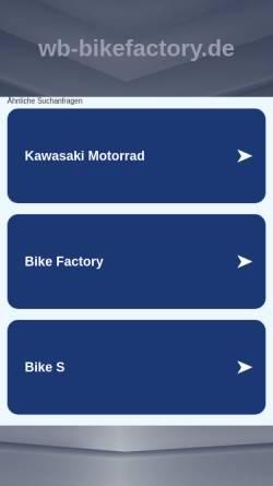 Vorschau der mobilen Webseite www.wb-bikefactory.de, Whity & Brösel Bike Factory
