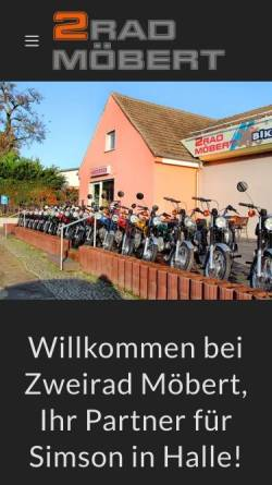 Vorschau der mobilen Webseite www.zweirad-moebert.de, Zweirad Möbert