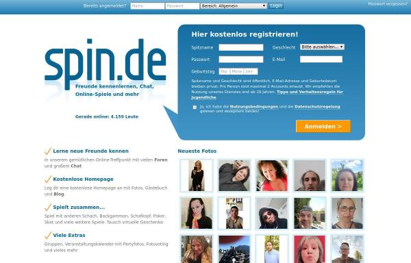 Vorschau von www.spin.de, SpinChat