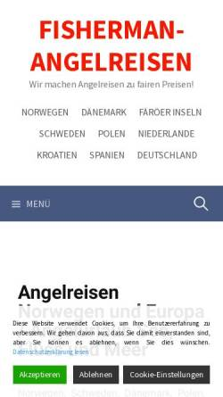 Vorschau der mobilen Webseite fisherman-angelreisen.de, Fisherman Angelreisen, Peter Röhrchen