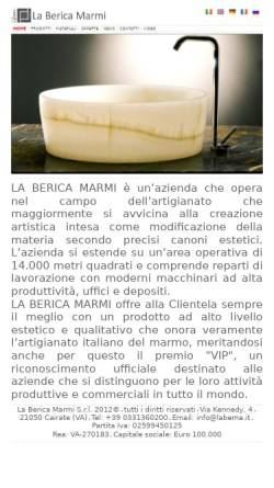 Vorschau der mobilen Webseite www.labema.it, Laberica Marmi