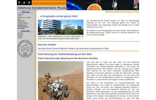 Vorschau von www.ieap.uni-kiel.de, Abteilung Extraterrestrische Physik, IEAP Kiel